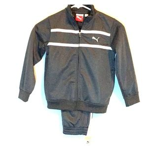 Puma track jump suit boys size NWT gray